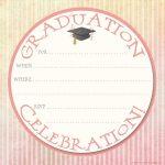 40+ Free Graduation Invitation Templates ᐅ Template Lab   Free Printable Graduation Invitations 2018