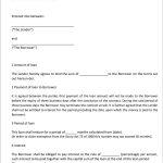 40+ Free Loan Agreement Templates [Word & Pdf] ᐅ Template Lab   Free Printable Loan Agreement Form