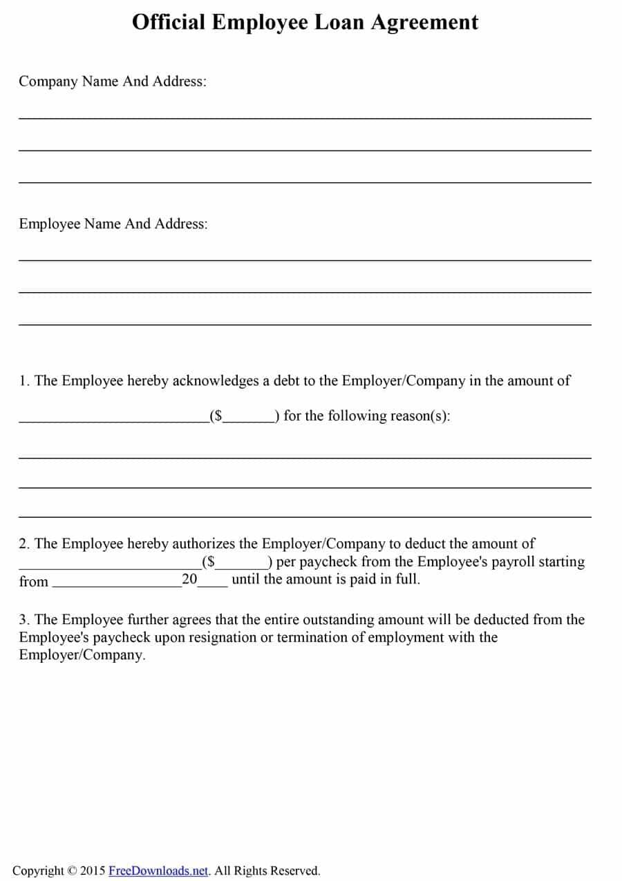 40+ Free Loan Agreement Templates [Word & Pdf] ᐅ Template Lab - Free Printable Loan Agreement Form