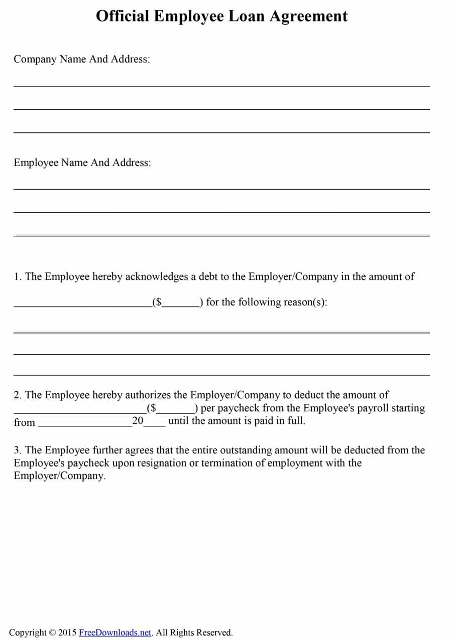 40+ Free Loan Agreement Templates [Word & Pdf] ᐅ Template Lab - Free Printable Loan Forms