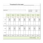40 Free Timesheet / Time Card Templates ᐅ Template Lab   Free Printable Blank Time Sheets