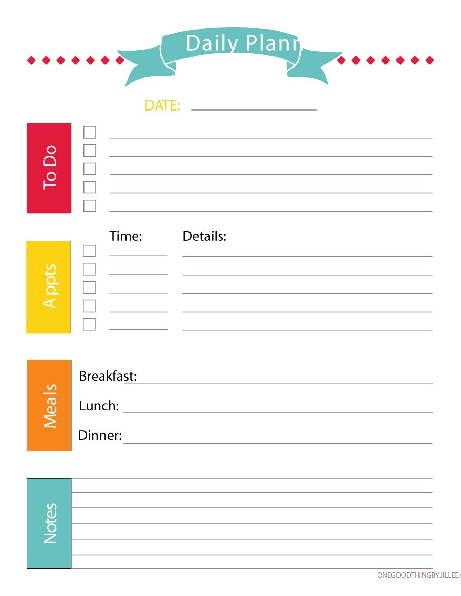 40+ Printable Daily Planner Templates (Free) ᐅ Template Lab - Free Printable Daily Schedule