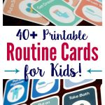 40+ Printable Routine Cards For Toddlers And Preschoolers   Free Printable Routine Cards