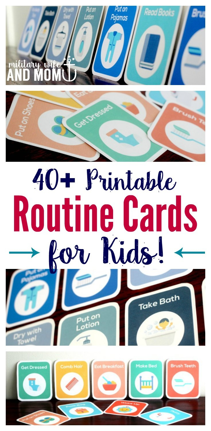 40+ Printable Routine Cards For Toddlers And Preschoolers - Free Printable Routine Cards
