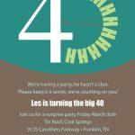 40Th Surprise Birthday Invitations Printable | Free Printable   Free Printable Surprise 40Th Birthday Party Invitations