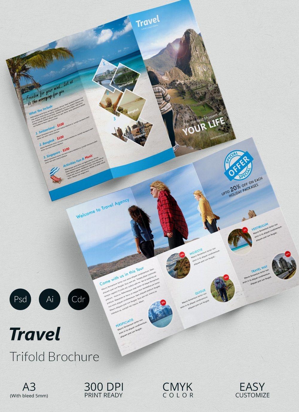 41+ Travel Brochure Templates - Free Sample, Example Format Download - Free Printable Brochure Maker Download