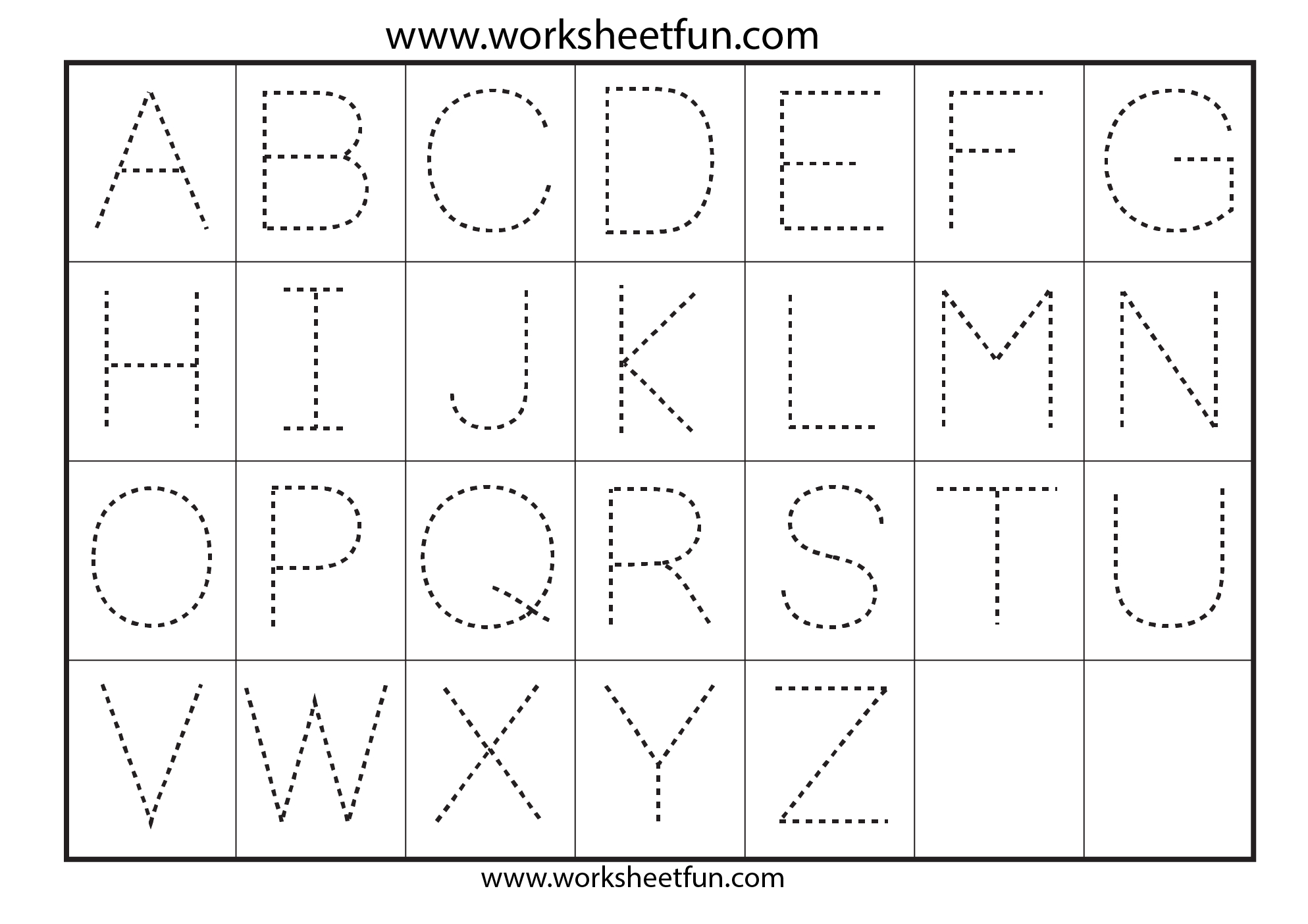 42 Educative Letter Tracing Worksheets | Kittybabylove - Free Printable Letter Tracing Sheets