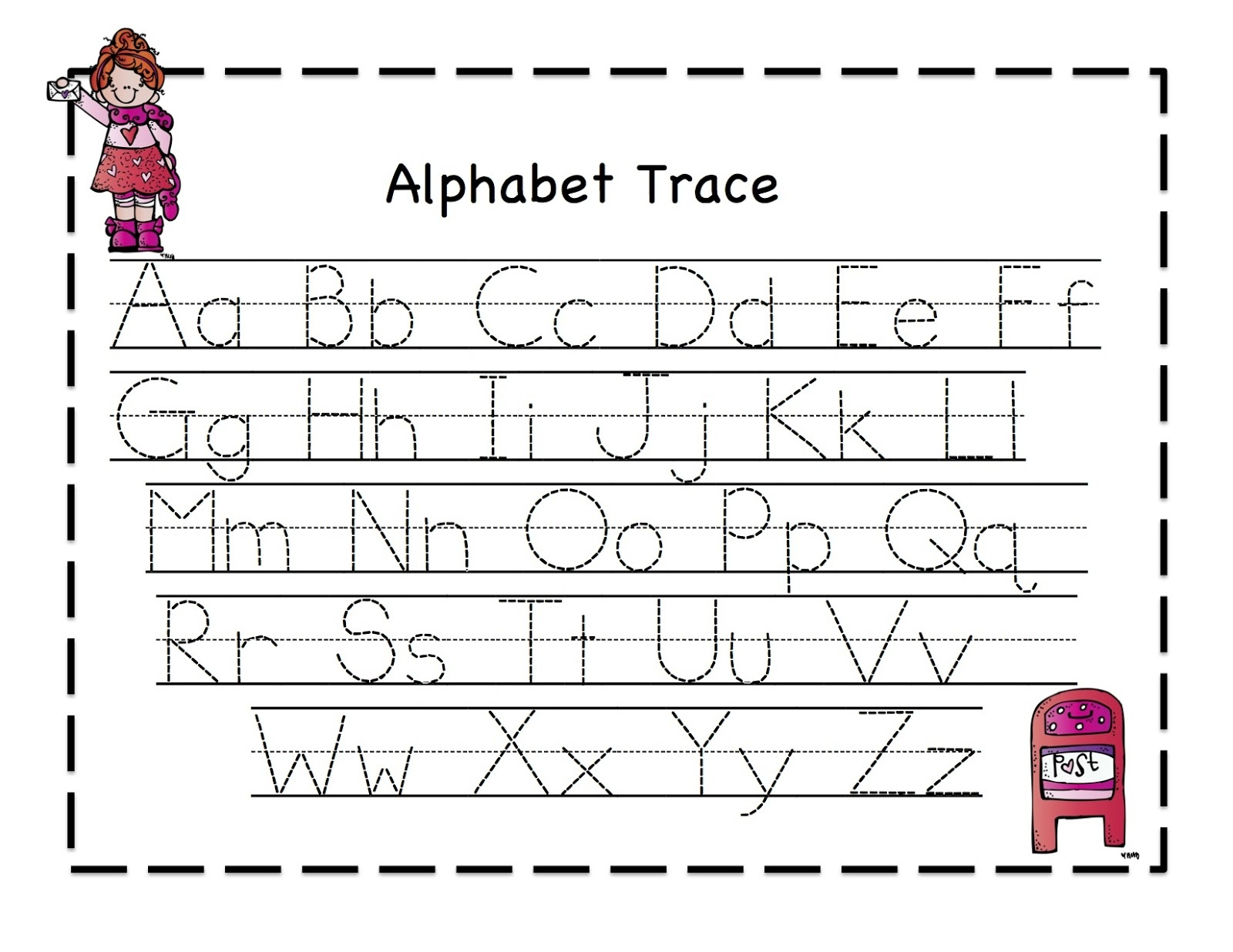 42 Educative Letter Tracing Worksheets | Kittybabylove - Free Printable Letter Tracing