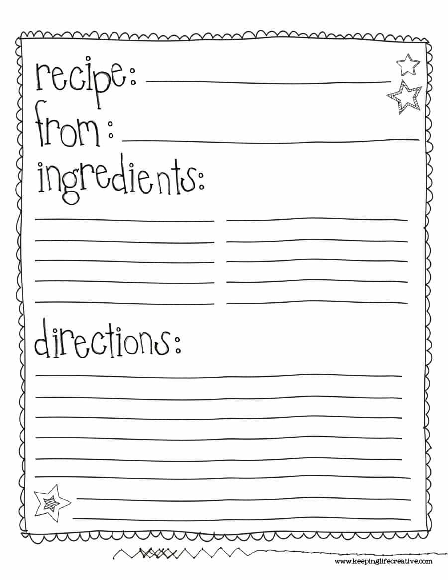44 Perfect Cookbook Templates [+Recipe Book & Recipe Cards] - Free Recipe Book Templates Printable
