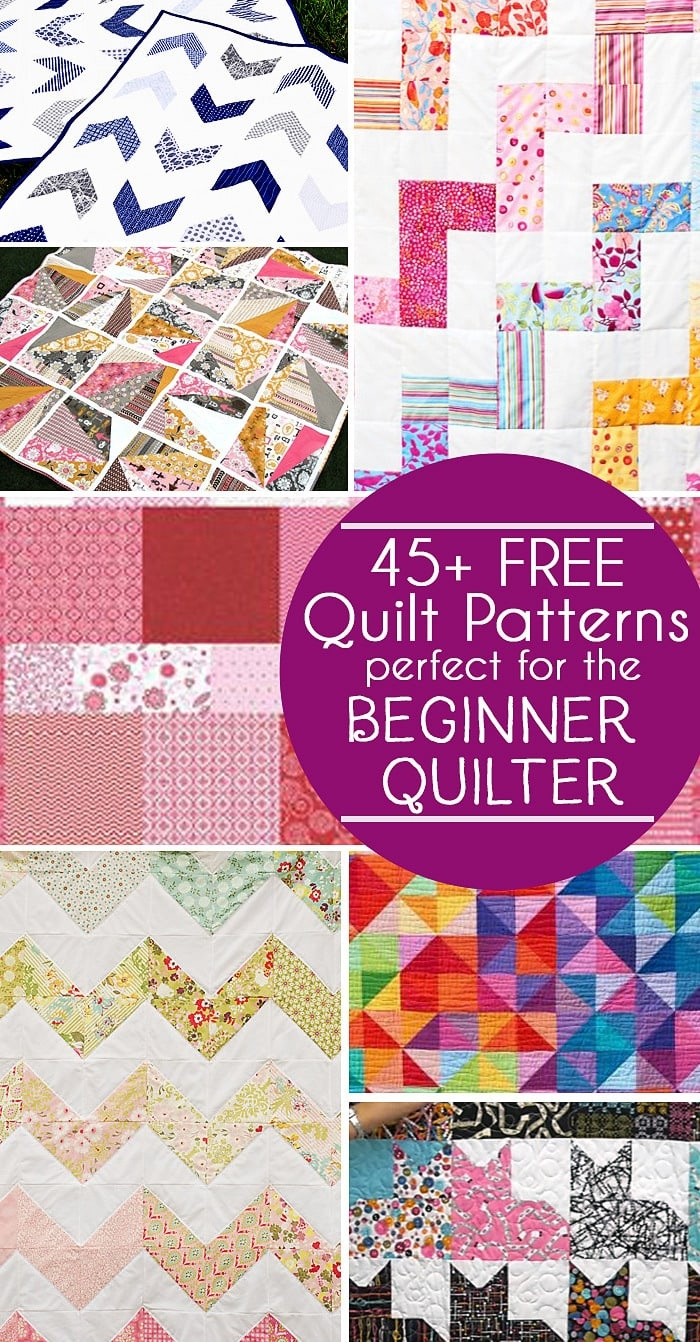 45 Free Easy Quilt Patterns - Perfect For Beginners - Scattered - Free Printable Machine Quilting Designs