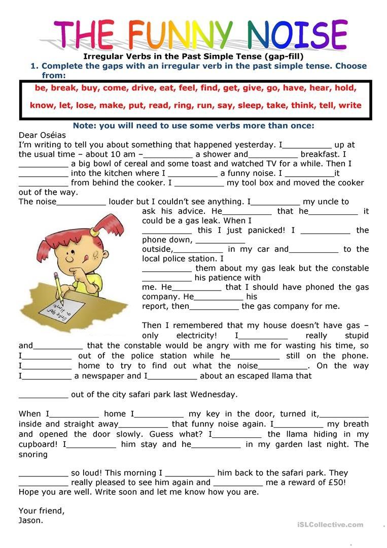 452 Free Esl Irregular Verbs Worksheets - Free Printable Past Tense Verbs Worksheets