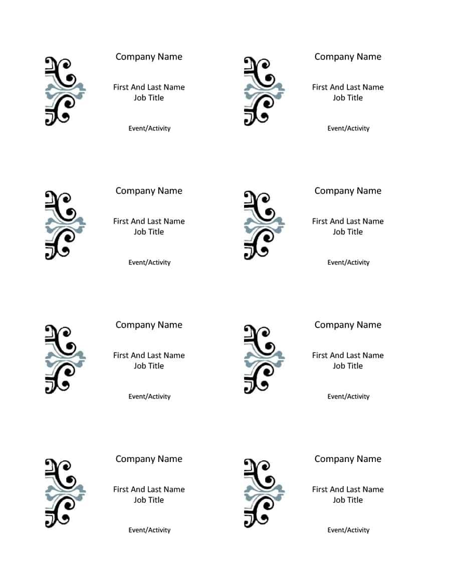 47 Free Name Tag + Badge Templates ᐅ Template Lab - Free Name Printables