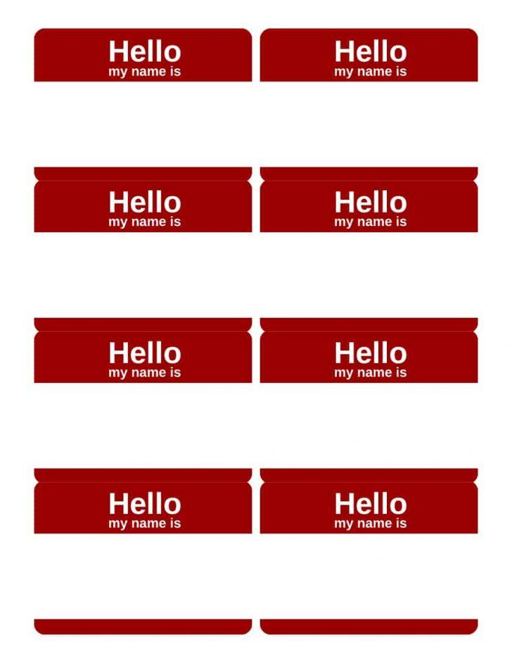 Free Printable Name Tags For Students