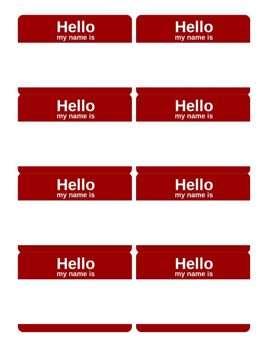 47 Free Name Tag + Badge Templates ᐅ Template Lab - Free Printable Name Tags For Students