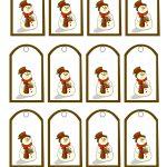 47 Free Printable Christmas Gift Tags (That You Can Edit And   Free Printable Angel Gift Tags