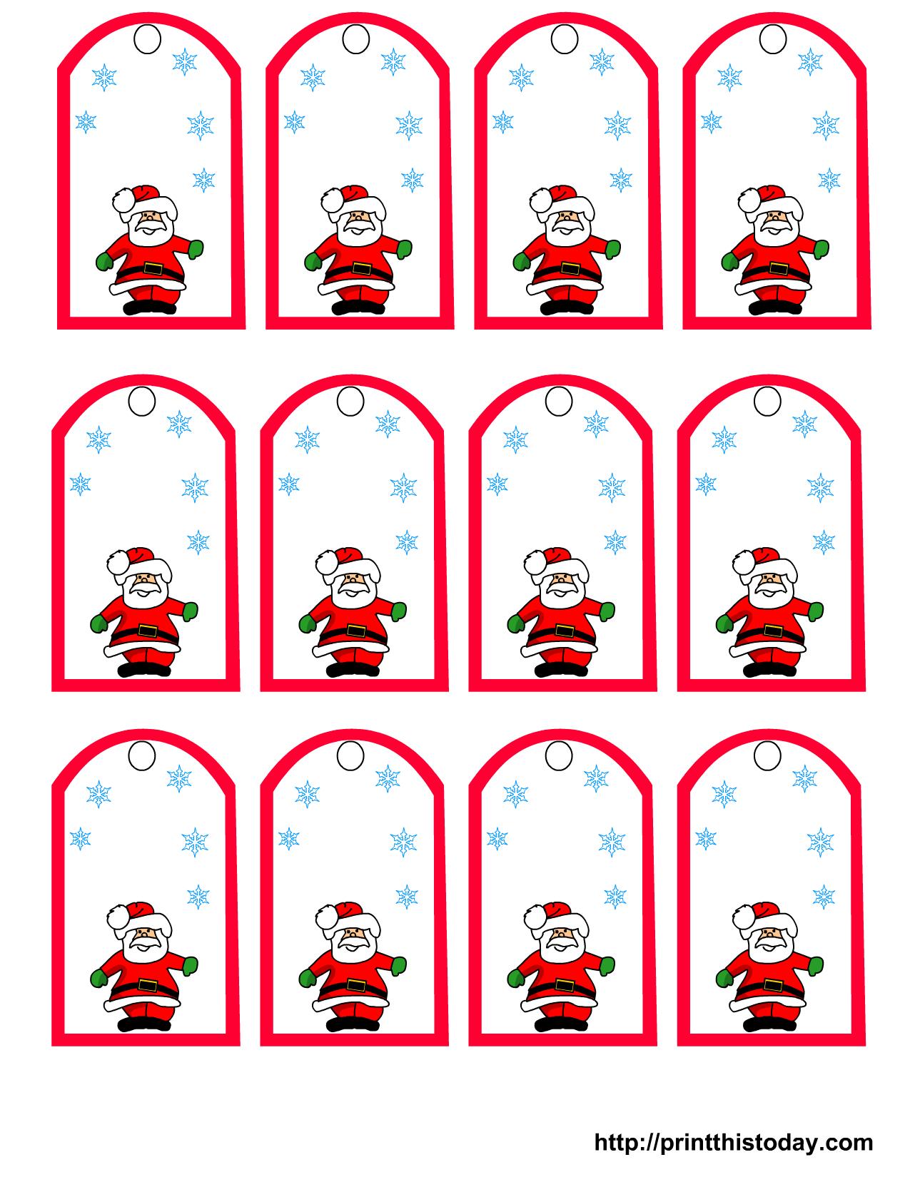 47 Free Printable Christmas Gift Tags (That You Can Edit And - Free Printable Christmas Tags Templates
