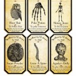 48 Spooky Halloween Labels For You | Kittybabylove   Free Printable Halloween Bottle Labels
