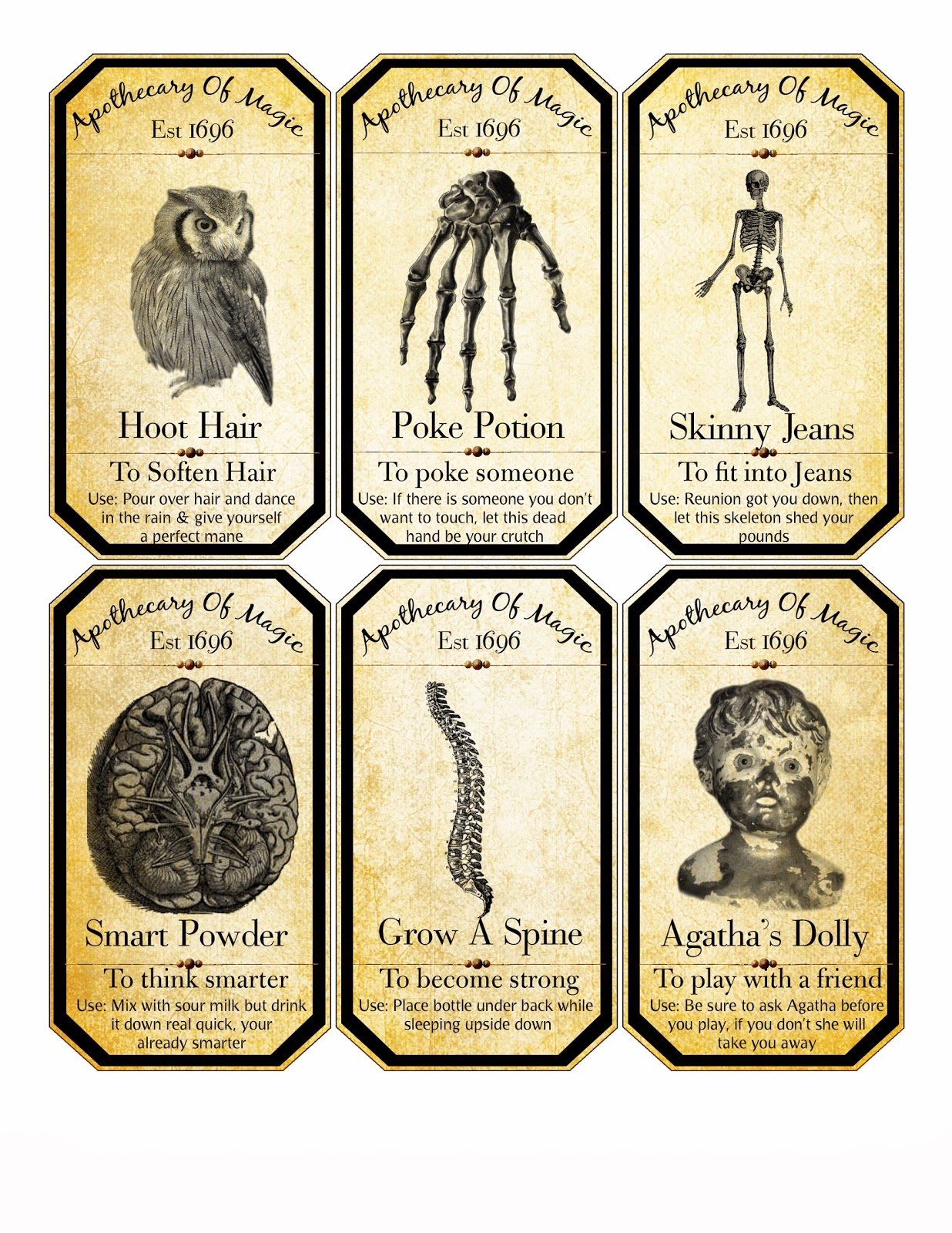 48 Spooky Halloween Labels For You | Kittybabylove - Free Printable Halloween Bottle Labels