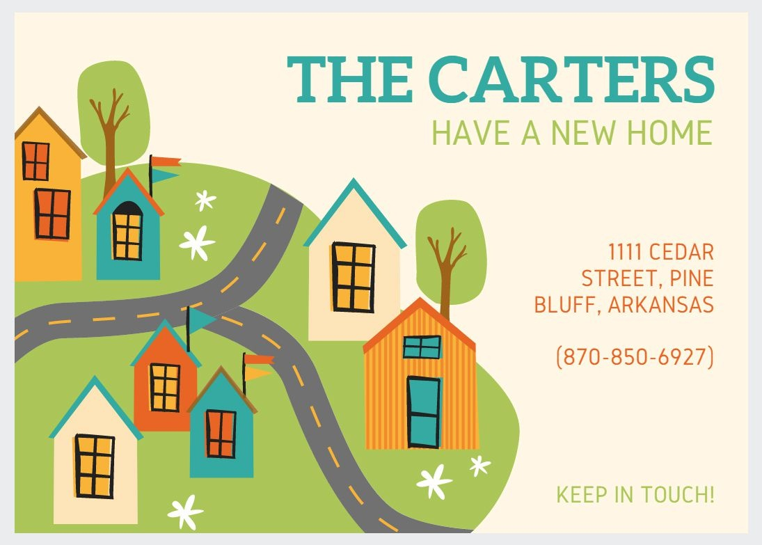 49 Free Change Of Address Cards (Moving Announcements) - We Re Moving Cards Free Printable