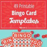 49 Printable Bingo Card Templates – Tip Junkie   Free Printable Bingo Cards For Teachers