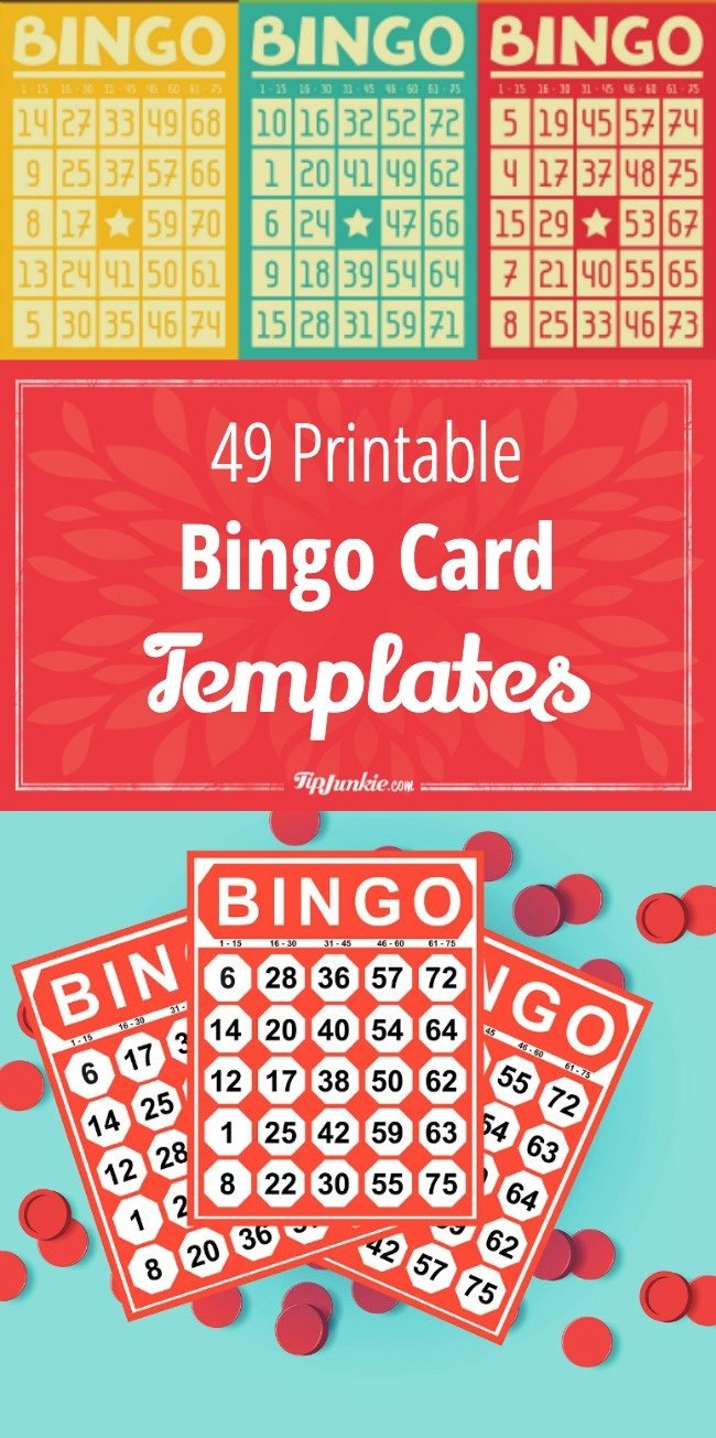 49 Printable Bingo Card Templates – Tip Junkie - Free Printable Bingo Maker