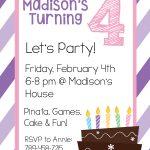 4Th Birthday Invitation Templates • Invitation Template Ideas   Free Printable Birthday Invitation Templates