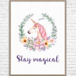 5 Beautiful Unicorn Parties And Free Printable To Make Your Party   Unicorn Printable Free