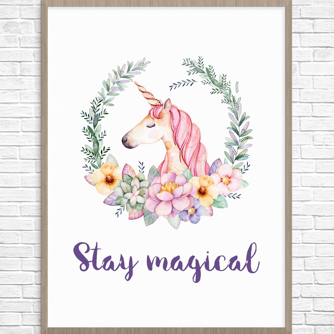 5 Beautiful Unicorn Parties And Free Printable To Make Your Party - Unicorn Printable Free