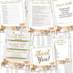 5 Darling Woodland Animal Baby Shower Free Printables And Ideas For   Free Woodland Baby Shower Printables