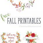 5 Free Fall Printables   Christinas Adventures   Free Fall Printables