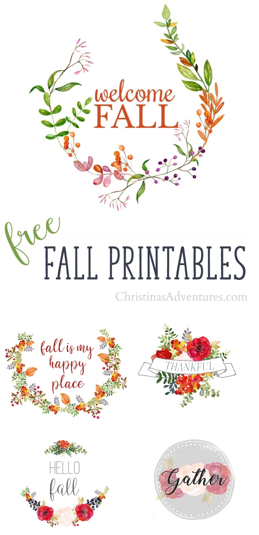 5 Free Fall Printables - Christinas Adventures - Free Fall Printables