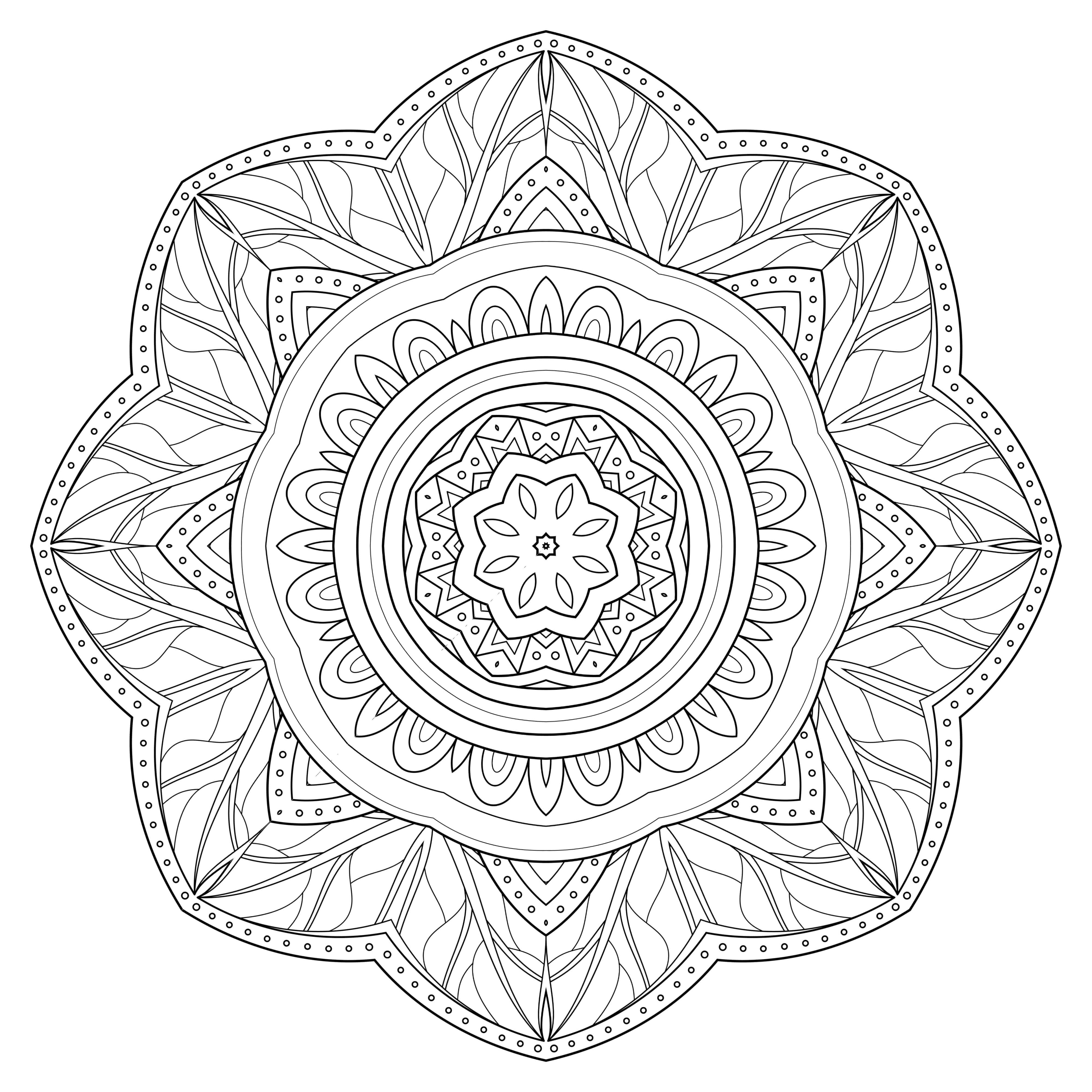 5 Free Printable Coloring Pages: Mandala Templates | Free Printable - Free Printable Mandala Patterns