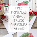 5 Free Vintage Truck Christmas Printables | The Happy Housie   Free Holiday Printables