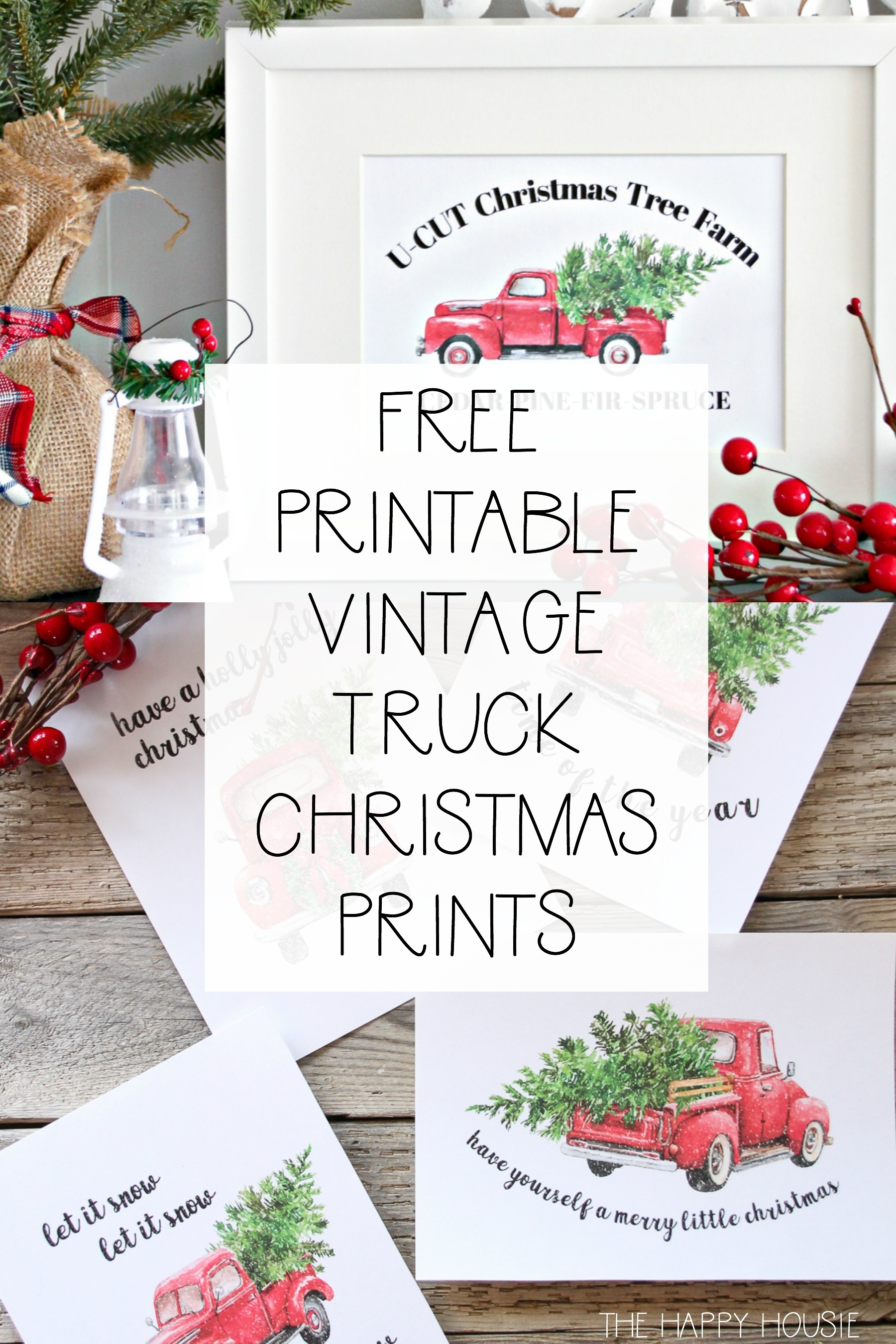 5 Free Vintage Truck Christmas Printables | The Happy Housie - Free Holiday Printables