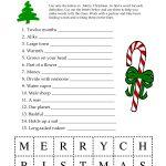 5 Images Of Free Printable Christmas Word Games | Printablee   Free Printable Christmas Games For Adults