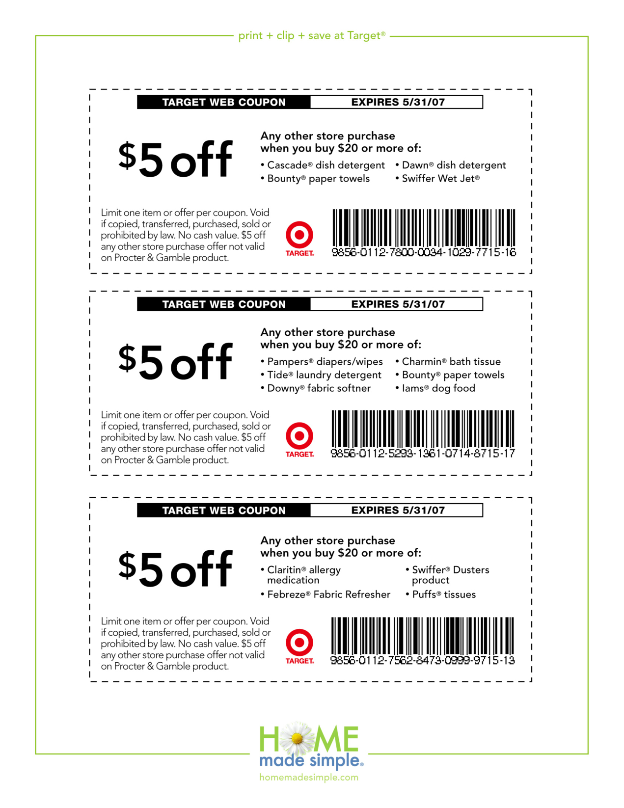 5-Off-Free-Printable-Coupons-Target - Free Printable Dave And Busters Coupons