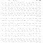 5 Printable Cursive Handwriting Worksheets For Beautiful Penmanship   Free Printable Script Writing Worksheets