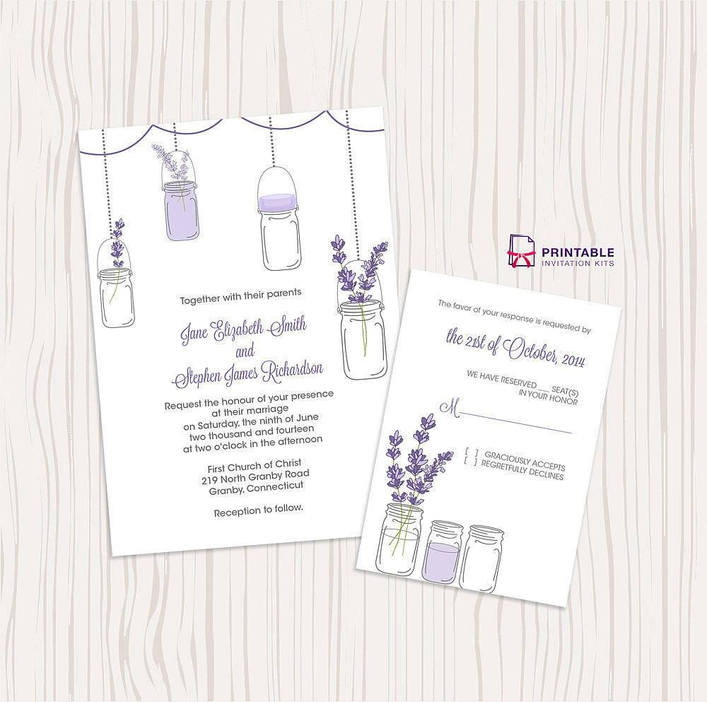 50 Absolutely Stunning Wedding Invitation Templates All For You Free - Free Printable Mason Jar Invitation Template