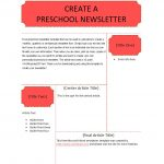 50 Creative Preschool Newsletter Templates (+Tips) ᐅ Template Lab   Free Printable Kindergarten Newsletter Templates