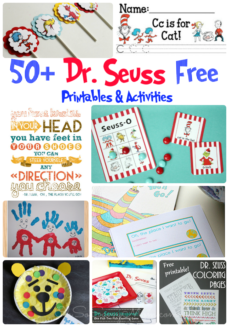 50+ Free Dr. Seuss Printables And Activities! - Oh So Savvy Mom - Dr Seuss Free Printables