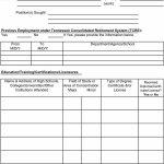50 Free Employment / Job Application Form Templates [Printable] ᐅ   Free Printable Employment Application