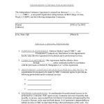 50+ Free Independent Contractor Agreement Forms & Templates   Free Printable Independent Contractor Agreement