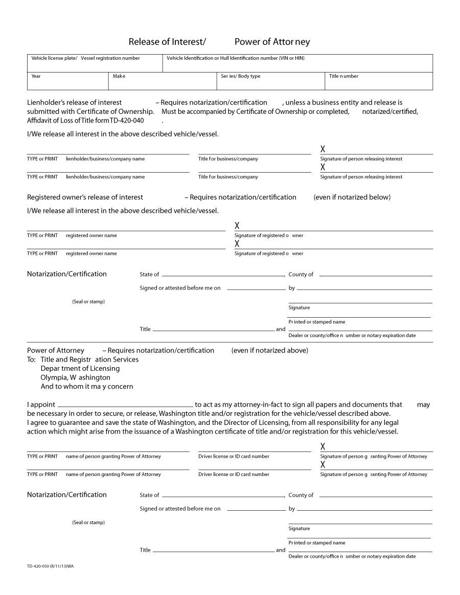 50 Free Power Of Attorney Forms & Templates (Durable, Medical,general) - Free Blank Printable Medical Power Of Attorney Forms