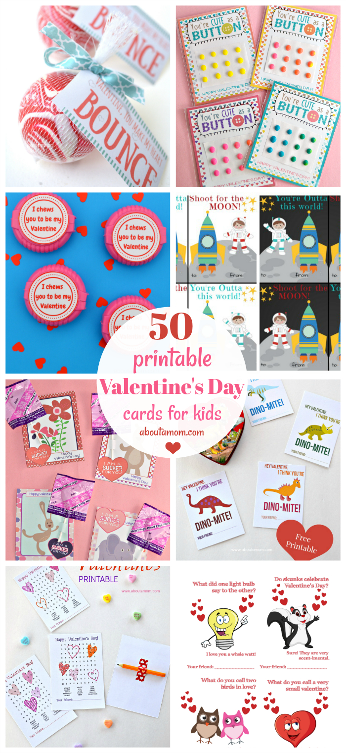 50 Free Printable Valentine's Day Cards - Free Printable Valentines Day Cards Kids