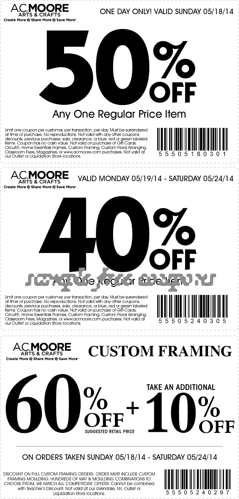 50 Off Ac Moore Coupon 2018 : Beaver Coupons - Free Online Printable Ac Moore Coupons