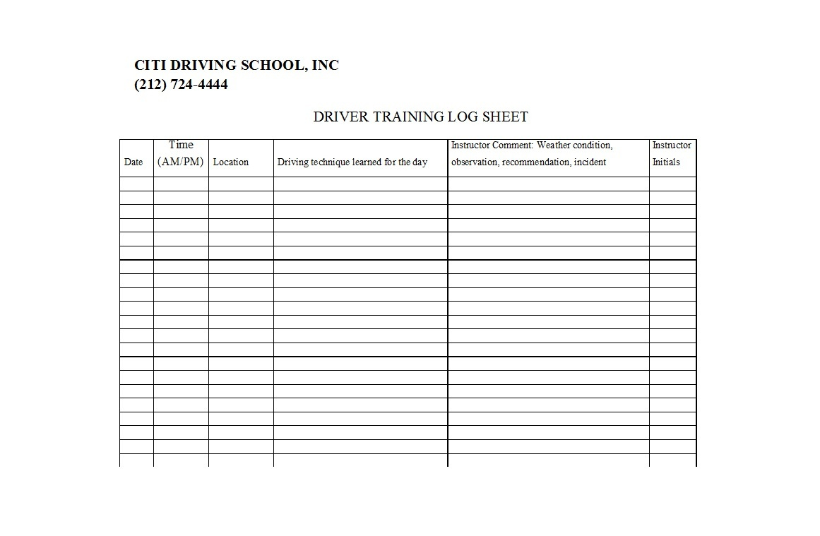 50 Printable Driver's Daily Log Books [Templates & Examples] - Free Printable Driver's Daily Log Sheet