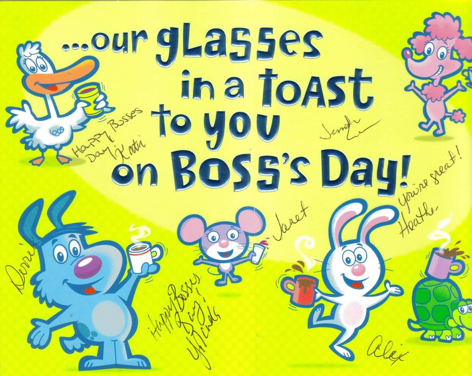 55+ Latest Boss Day Wish Pictures And Photos - Free Printable Boss's Day Cards