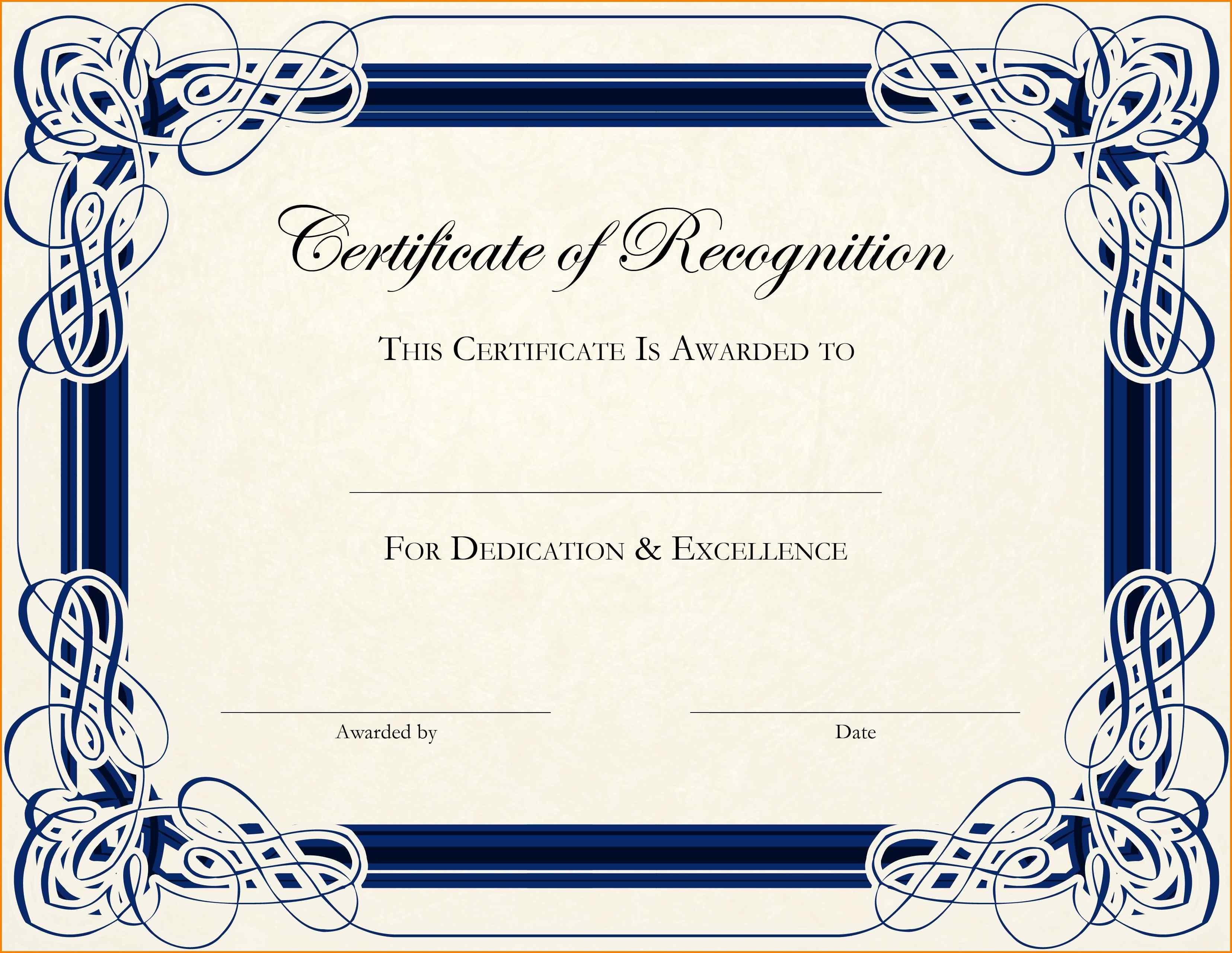 6+ Free Blank Award Certificates | Psychic Belinda - Free Printable Award Certificates