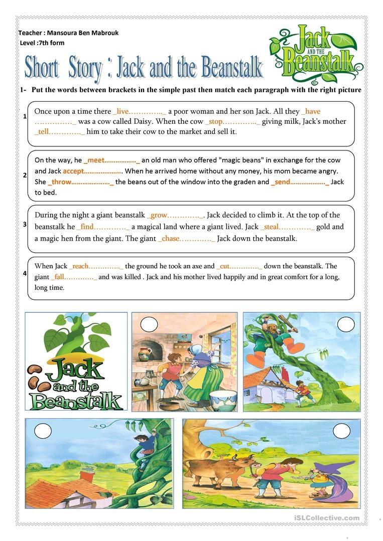 6 Free Esl Jack And The Beanstalk Worksheets - Jack And The Beanstalk Free Printable Activities