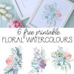 6 Free Printable Floral Watercolour Designs | Printables   Floral Printables Free